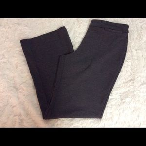 New York & Company Ponte Knit Grey Pull On Pants L